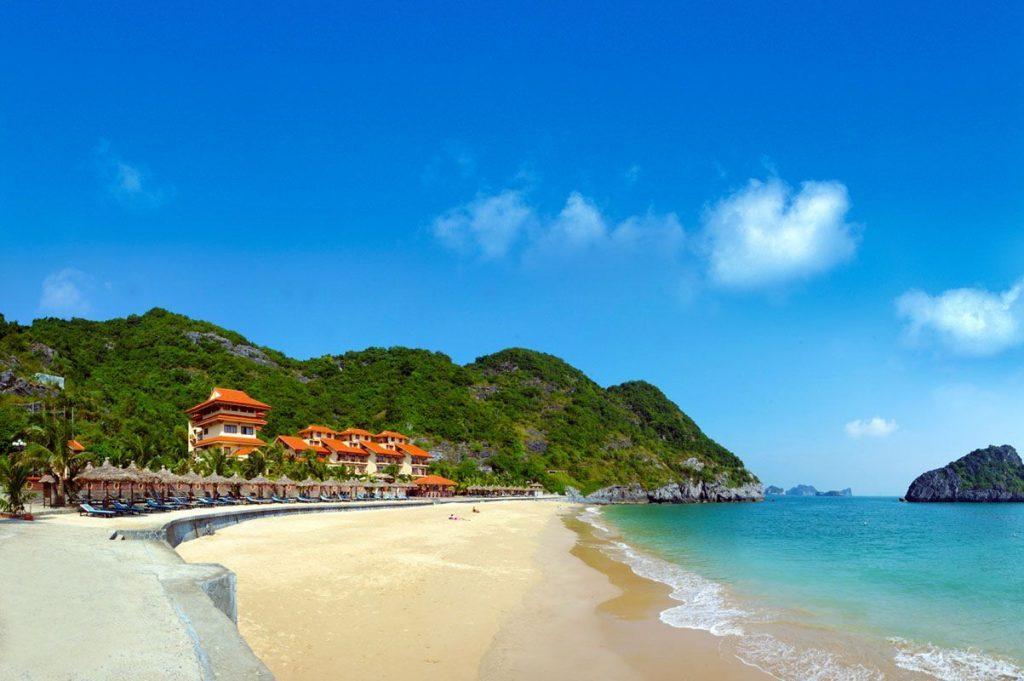 Một góc của bãi biển Đồ Sơn