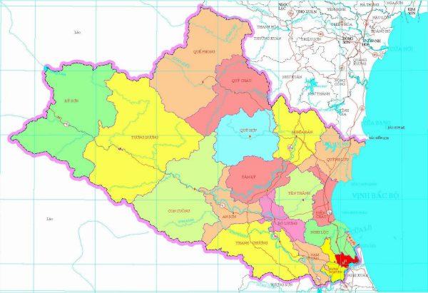 tỉnh Nghệ An có bao nhiêu huyện